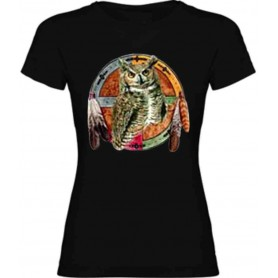 Camiseta buho E154 chica