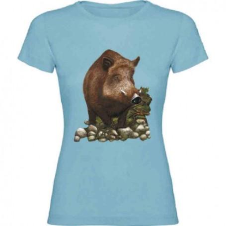 Camiseta jabalí chica